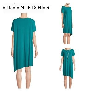 🆕Eileen Fisher Turquoise Jersey Knit Dress